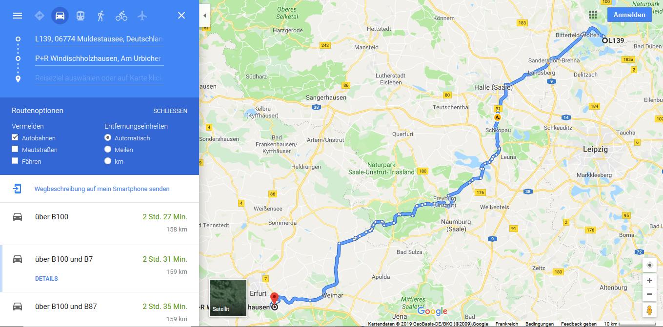 Pouch am Muldenstausee - Erfurt